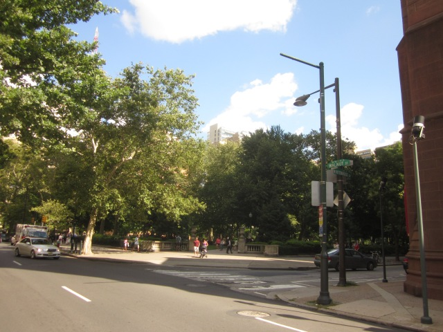 Rittenhouse Square Park, seen here at 19th & Walnut Streets, is three blocks and around the corner from 1919 Market