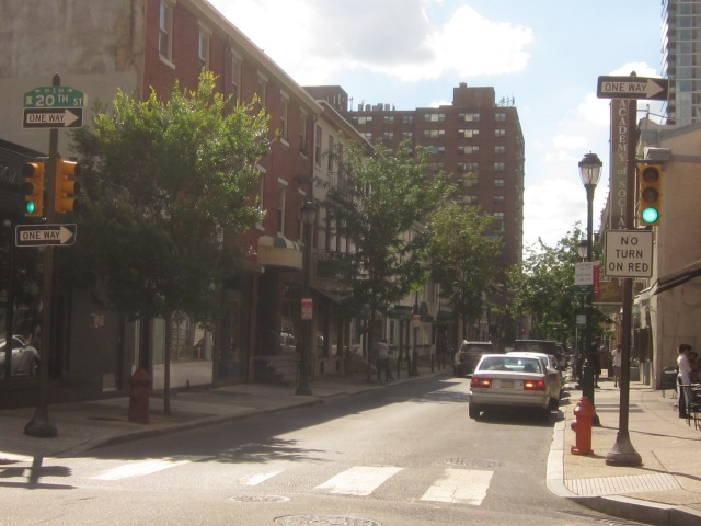 Retail along the 2000 block of Sansom Street