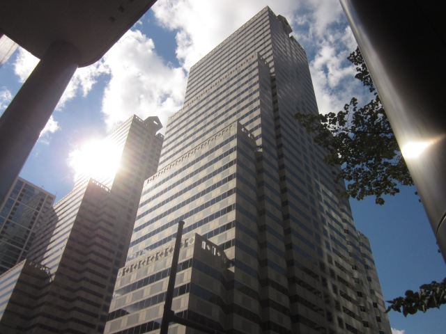 Looking up at the Commerce Square east tower, across 20th Street from 1919 Market