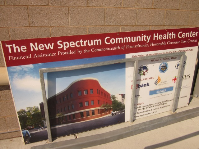 Sign announcing the New Spectrum Community Health Center