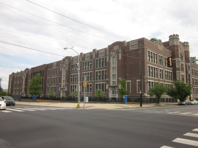 The old West Philadelphia High School building, at 48th & Walnut Streets