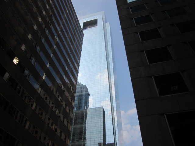 Looking up at the Comcast Center, from 17th & Market Streets