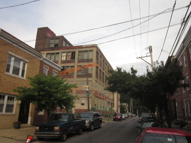 Albert J. Reach baseball factory seen from Palmer Street