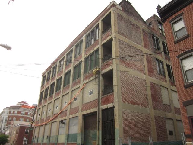 Albert J. Reach baseball factory and the former Neumann Hospital, now the Marie Lederer Senior Housing Complex, on Palmer Street