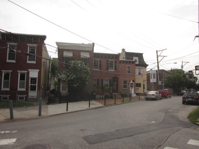 Houses across Palmer Street from Albert J. Reach baseball factory