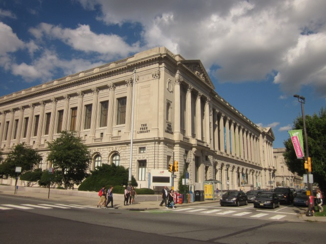Free Library Central Branch, at 20th and Vine Streets, just off the Ben Franklin Parkway
