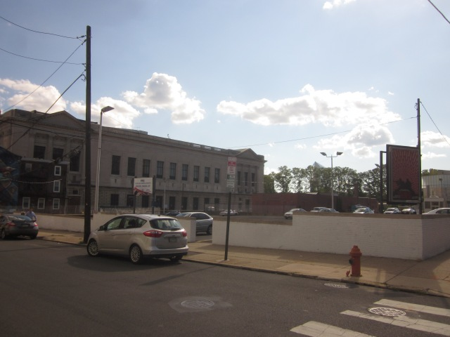 Future site of the Free Library Central Branch expansion, at 19th and Callowhill Streets