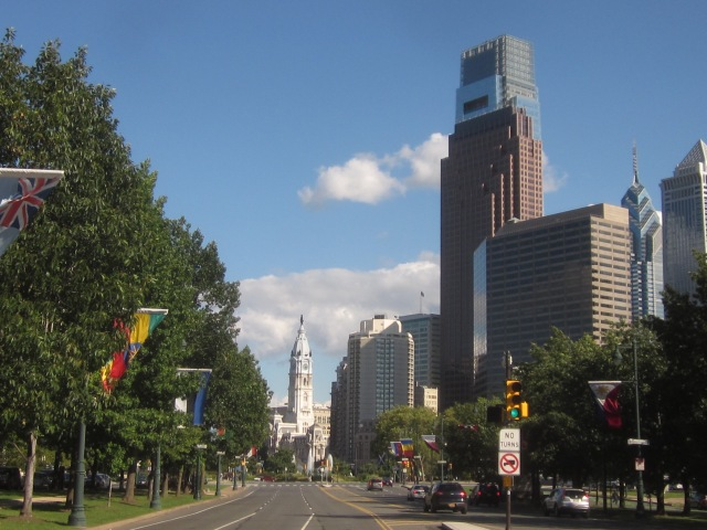 Looking east down The Parkway