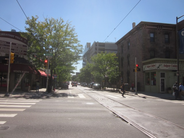 Looking south down 40th Street