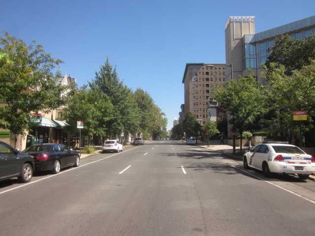 Looking east on Chestnut Street, from 40th Street