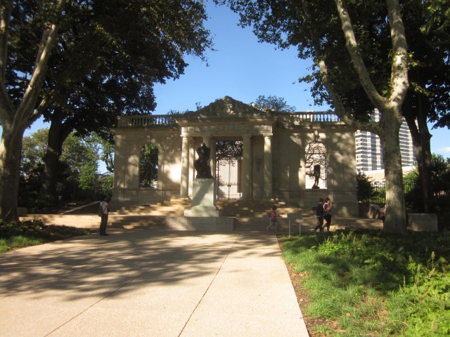 Meudon Gate, in front of the Rodin Museum, at 21st Street and The Parkway
