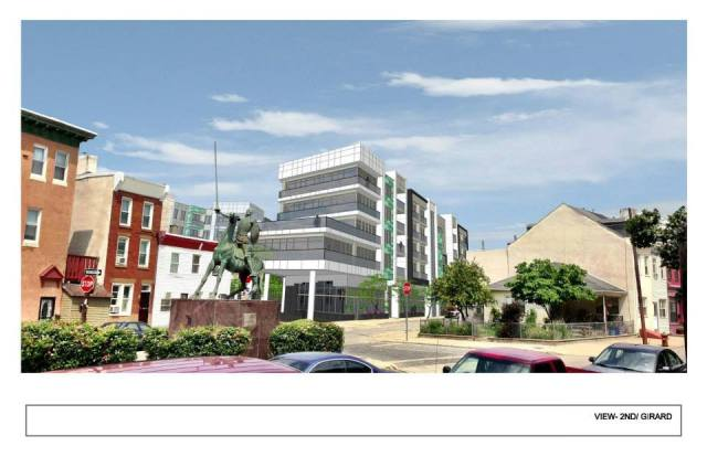 Rendering of Liberty Square from American Street and Girard Avenue