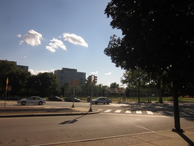 Von Colln Memorial Field, seen from Pennsylvania Avenue