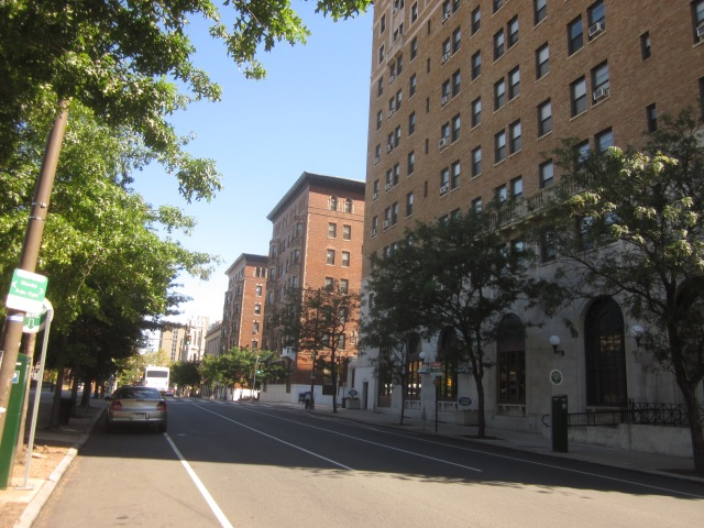 Apartment buildings along Chestnut Street, including Chestnut Hall at 39th Street