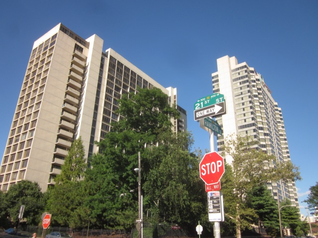CityView Condominiums, across 21st Street from the future site of Rodin Square