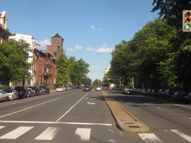 Looking east down Spring Garden Street