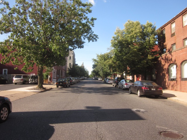 Looking north up 22nd Street