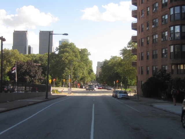 Looking south down 22nd Street
