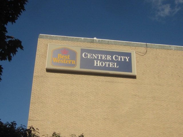 Sign of the Best Western Center City Hotel