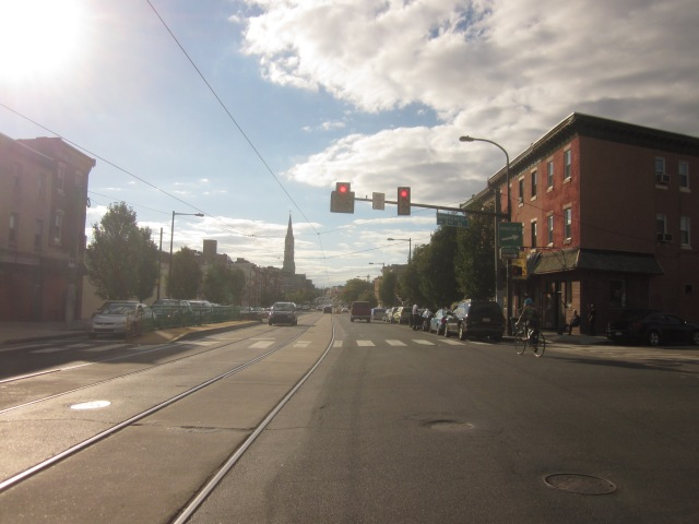 Looking west down Girard Avenue