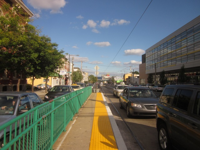 Looking east on Girard Avenue, towards the Market/Frankford El Station