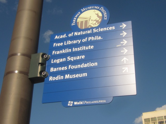 Sign announcing attractions along The Parkway