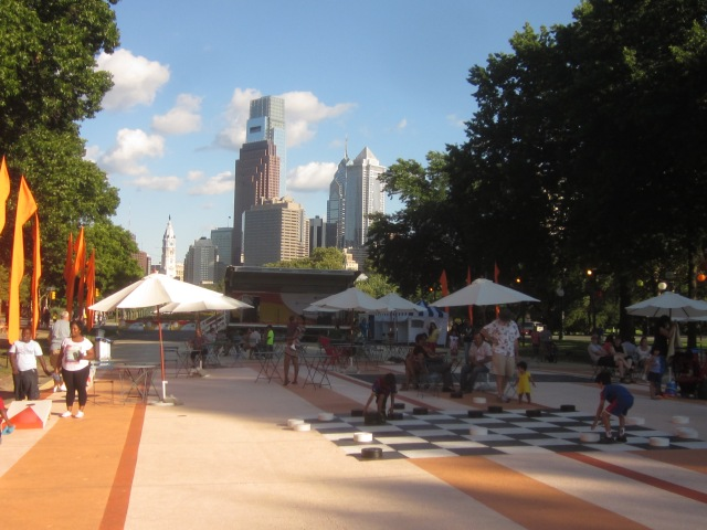 Eakins Oval may be renovated soon to have a permanent event space, similar to this temporary one called The Oval