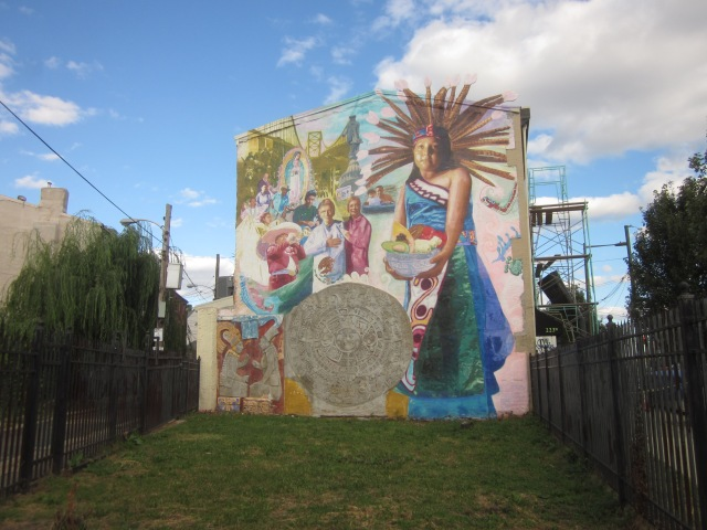 Mural and a small park at Germantown and Girard Avenues and Stiles Street