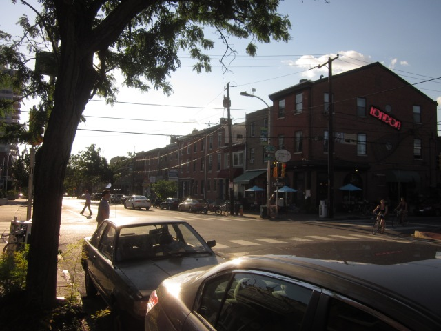 Busy Fairmount Avenue, just north of future Rodin Square