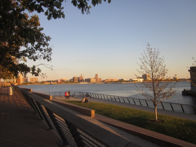 Camden waterfront, across from Race Street Pier and Penn's Landing, has concerts and other entertainment