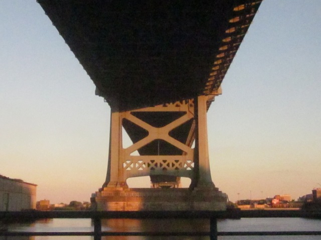 Underneath the Ben Franklin Bridge