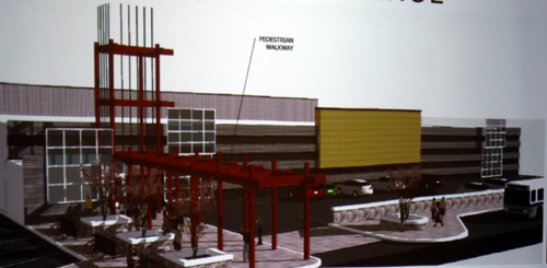 Rendering of the House of Blues concert hall, to be built on the waterfront about a mile north of the FringeArts headquarters