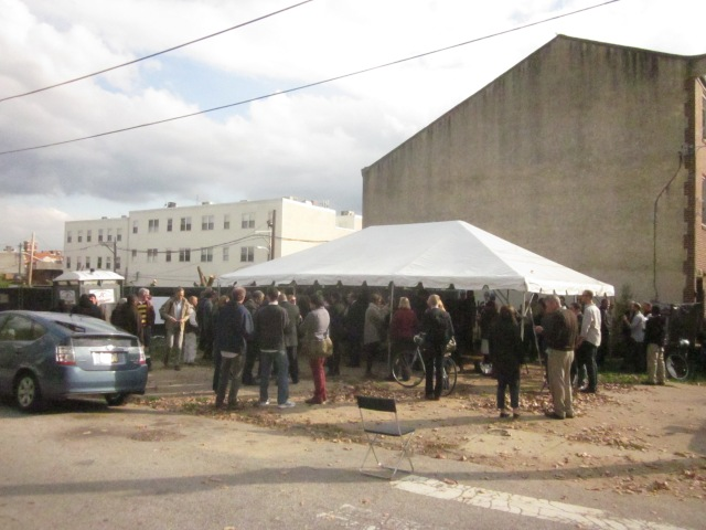 Crowds gathered for groundbreaking ceremony of Folsom Powerhouse