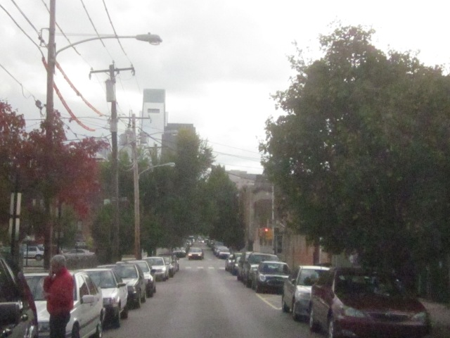 Looking south down 18th Street, from the corner of Folsom Street