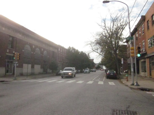 Looking west on Fairmount Avenue, from 18th Street