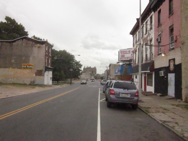 Looking south down Ridge Avenue, towards Broad Street, in Francisville
