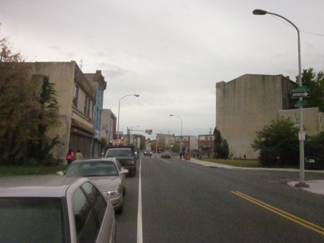 Looking north up Ridge Avenue, towards Girard Avenue