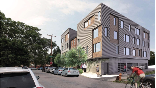 Rendering from 18th and Olive Streets