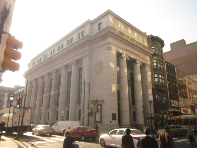 Beneficial Savings Fund building, on the southwest corner of 12th and Chestnut Streets