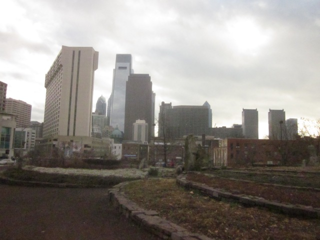Looking south at the Center City skyline, from Baldwin Park