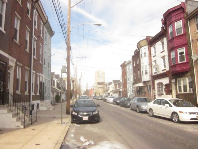Looking north up Fourth Street, towards Queen Village and Society Hill in Center City