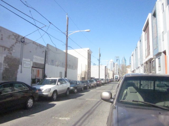 Looking up 17th Street, and at the future development site across from Carpenter Square