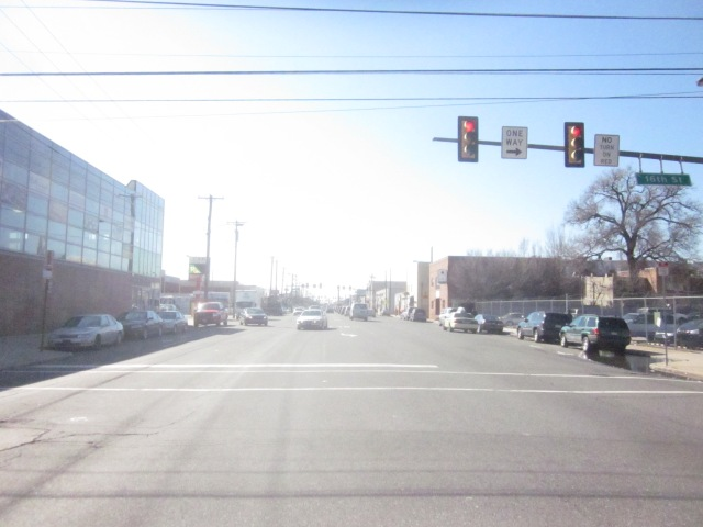 Looking west down Washington Avenue, from 16th Street