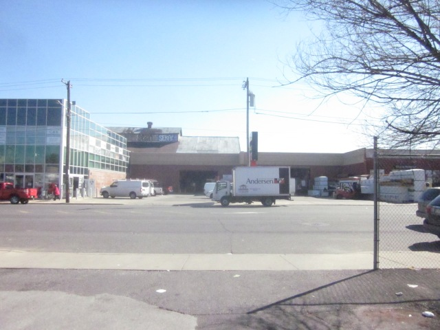 Warehouse and store across Washington Avenue