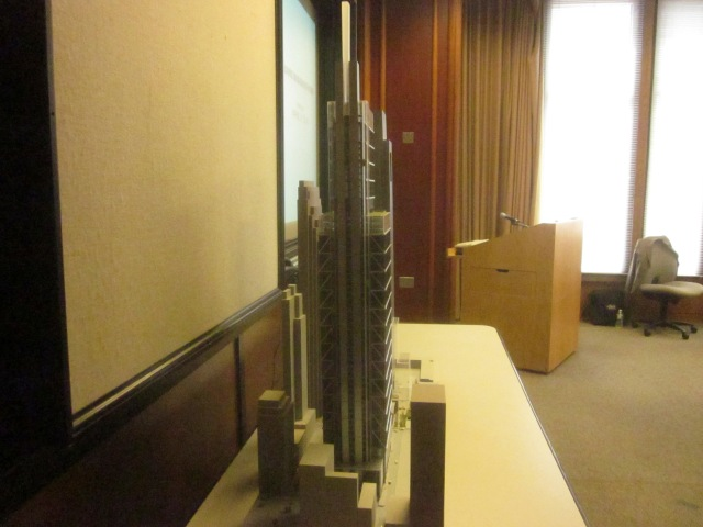Model of the CITC from the western view of the tower