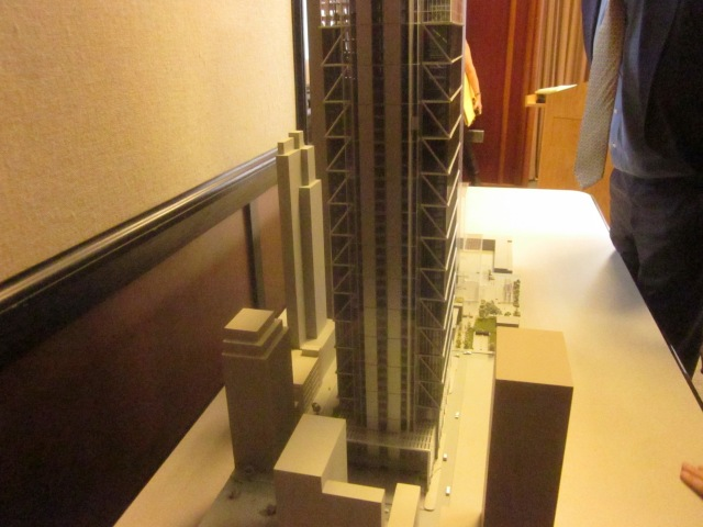 19th Street side of model of CITC