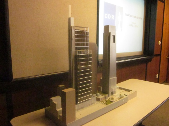 Model of the Comcast Innovation and Technology Center seen from the southwest angle