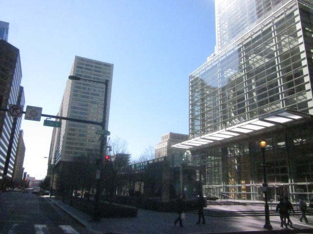 Plaza of Comcast Center, at 17th Street and JFK Boulevard