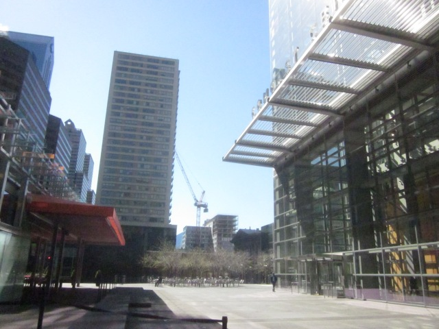 Looking towards the site of the future CITC, from the Comcast Center plaza
