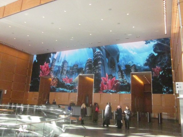 The Comcast Experience, the world's largest HD screen of its kind